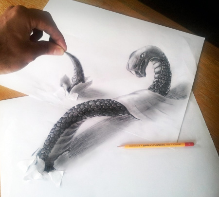 3D Illusion Drawings by Ramon Bruin