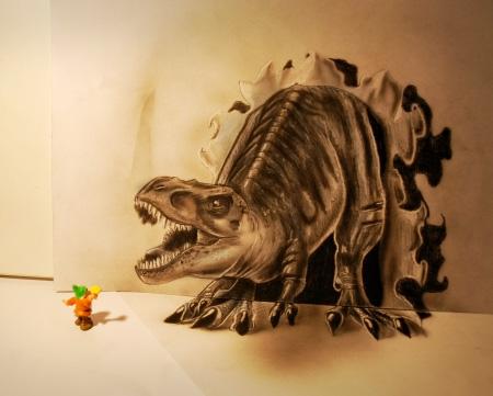 Anamorphic Drawings by Ramon Bruin
