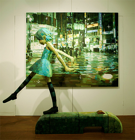 Painting by Shintaro Ohata