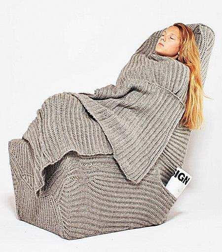 Blanket Chair by Aga Brzostek
