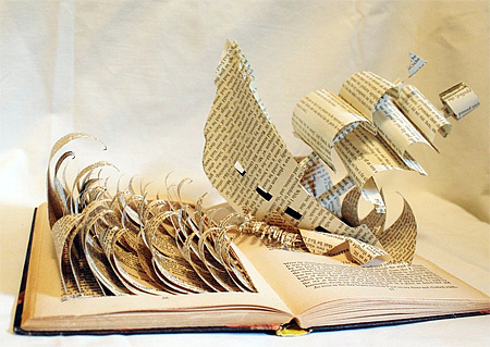 Book Carvings by Jodi Harvey-Brown