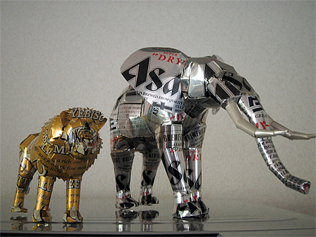 Beer Cans Sculpture