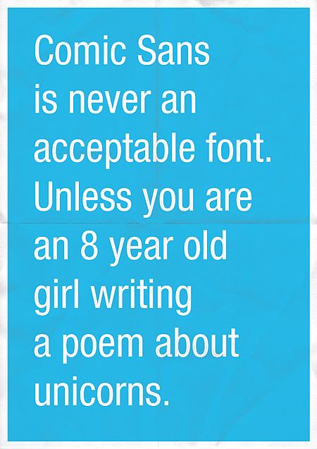 Comic Sans Poster