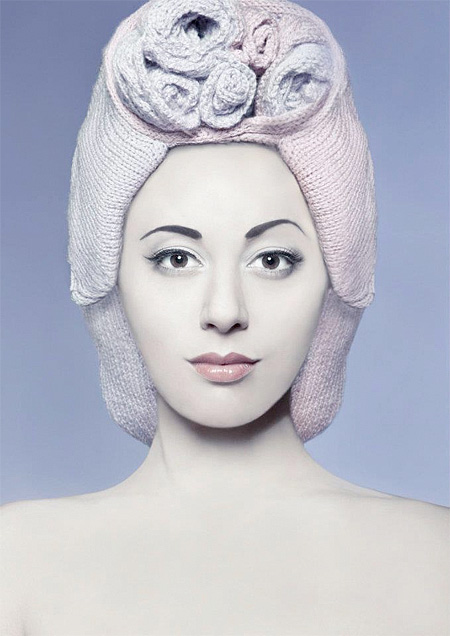 Knitted Wigs by Louise Walker