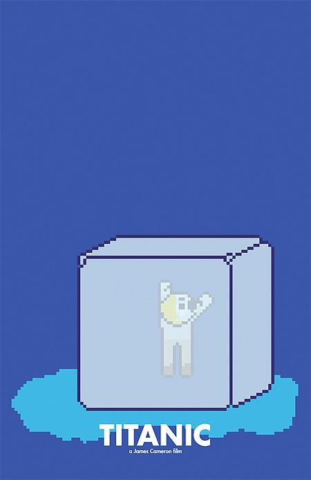 Pixel Art Movie Posters
