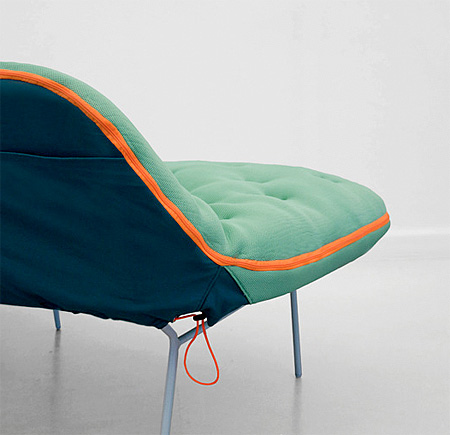 Sleeping Bag Sofa by Stephanie Hornig