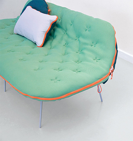 Sleeping Bag Couch by Stephanie Hornig