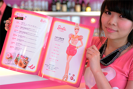 Barbie Cafe in Taiwan