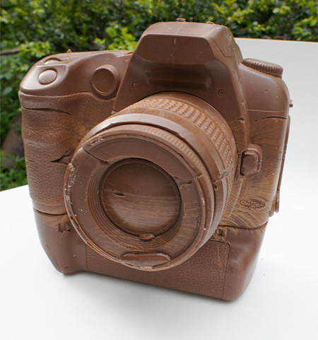 DSLR Camera Made of Chocolate