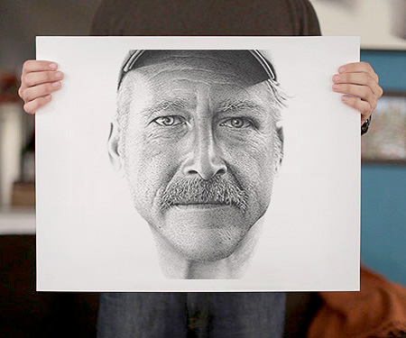 Dot Drawings by Miguel Endara