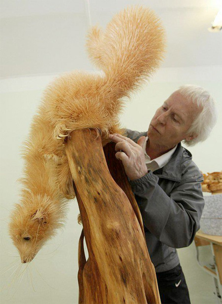 Russian artist Sergey Bobkov
