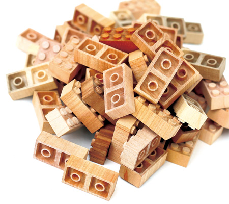 Wooden LEGO Blocks