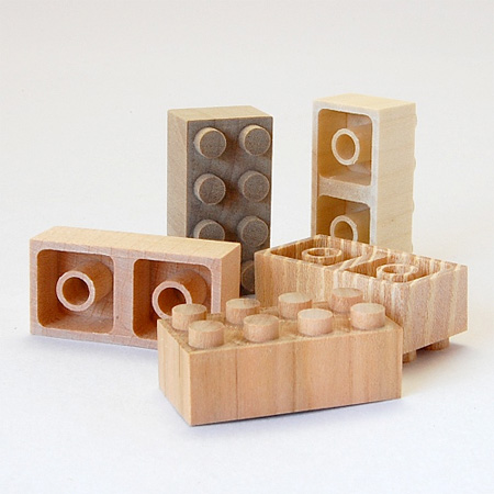 LEGO Bricks Made of Wood