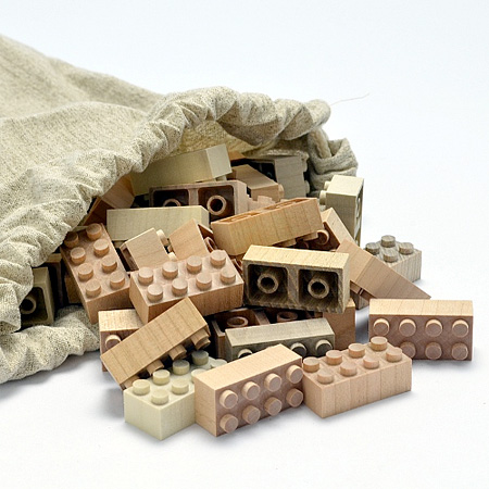 LEGO Blocks Made of Wood