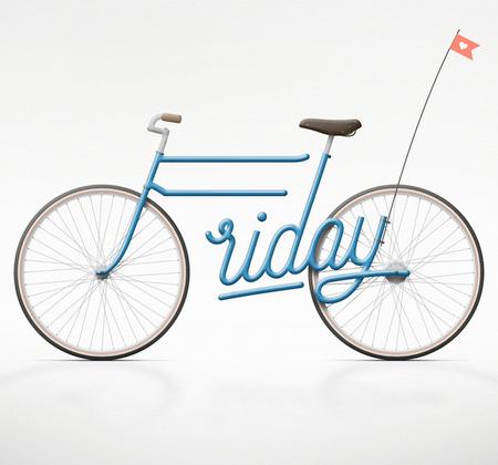Typography Bicycle
