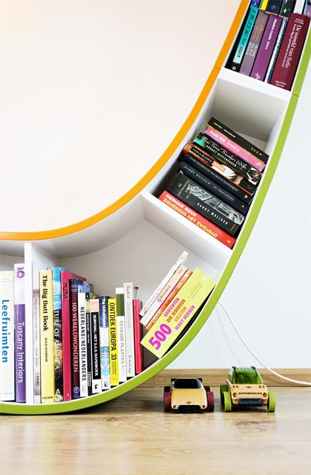 Bookworm Bookshelf by Atelier 010