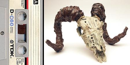 Cassette Tape Sculptures