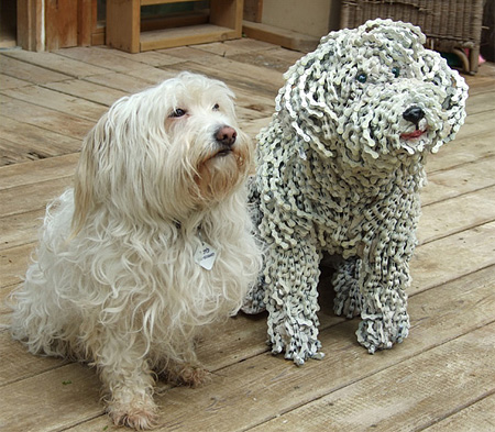 Dog Made of Bicycle Parts