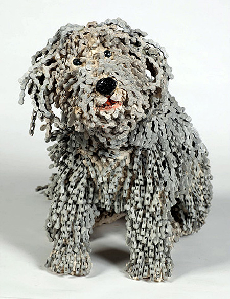 Bicycle Chain Dogs by Nirit Levav