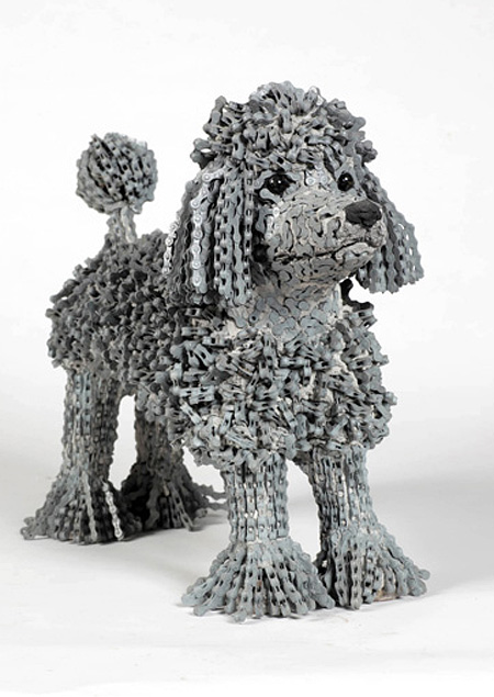Bicycle Chain Dog by Nirit Levav