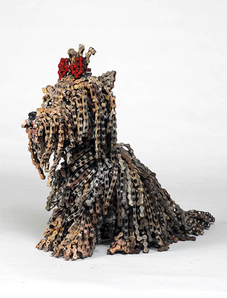 Dogs Made of Bicycle Parts