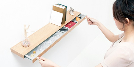 Bookshelf with Secret Drawer
