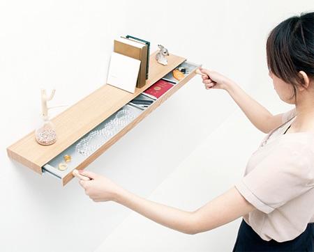 Bookshelf with Hidden Drawer