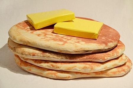 Pancake Floor Pillows by Todd von Bastiaans