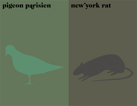Paris vs New York Prints