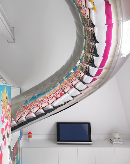 Apartment with Indoor Slide