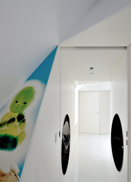 Apartment with Tubular Slide