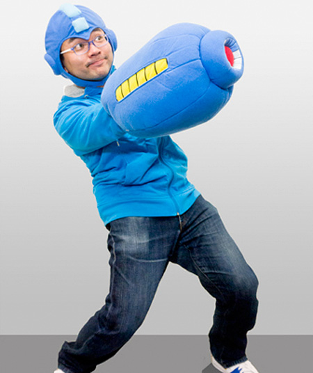 Mega Man Arm Cannon Pillow