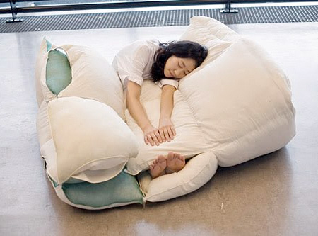 Blanket Made out of Pillows