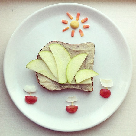 Breakfast Food Art by Ida Skivenes