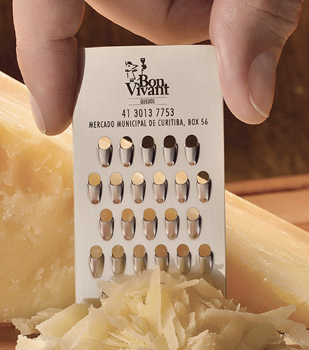 Bon Vivant Cheese Grater Business Card