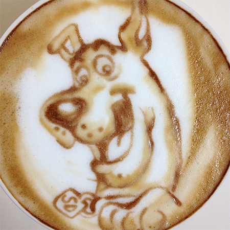 Scooby Doo Latte Art
