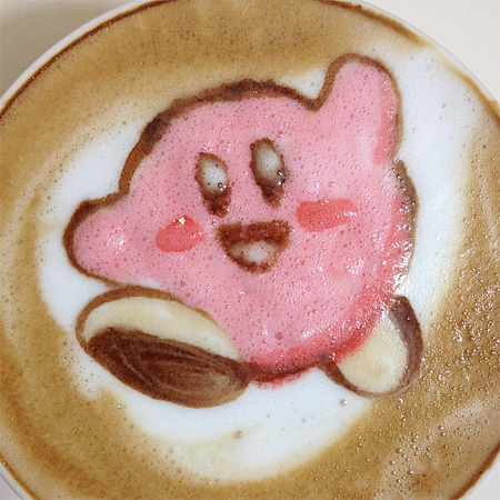 Kirby Latte Art