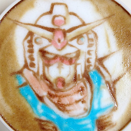 Gundam Latte Art