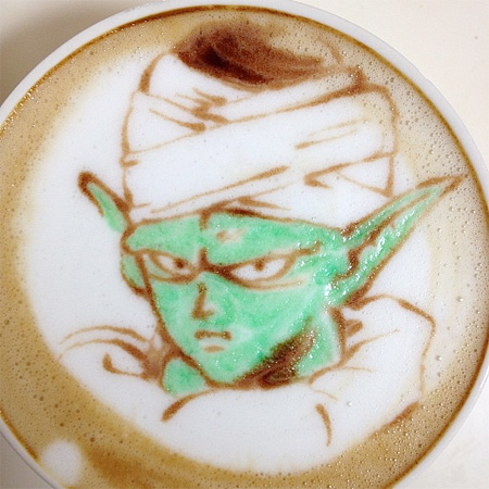 Dragon Ball Latte Art