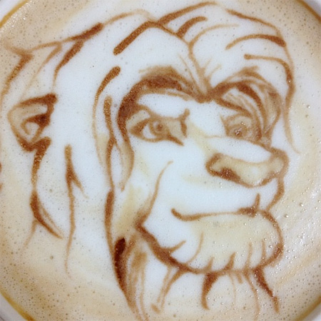 Lion King Latte Art