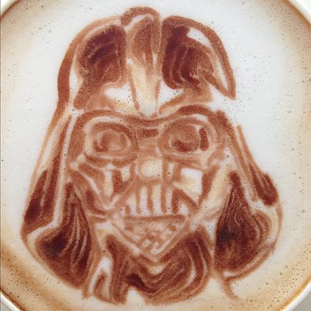 Darth Vader Latte Art