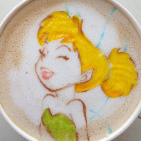 Tinker Bell Latte Art