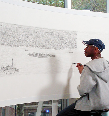 Autistic Artist Draws from Memory