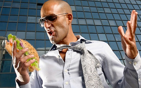 Smartphone Replaced With Sandwich