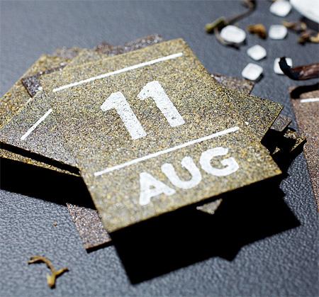 Calendar Made of Tea Leaves
