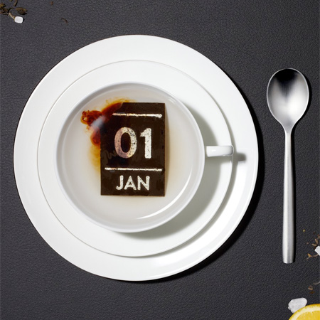 Calendar Made of Tea