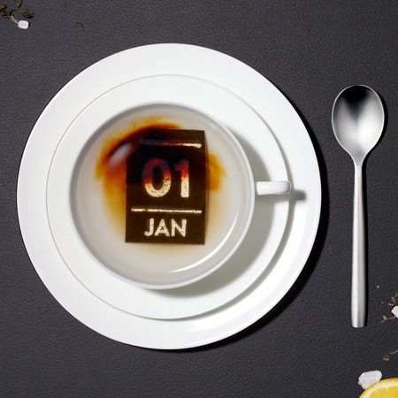 Calendar Made Out of Tea