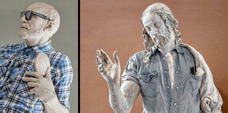 Statues Dressed in Clothing