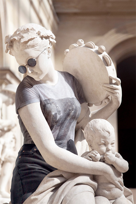 Statues Dressed in Hipster Clothing