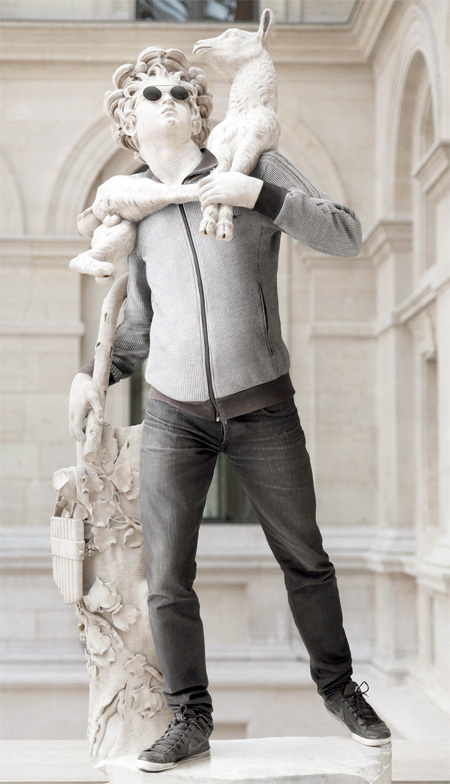 Statues Dressed in Hipster Clothes